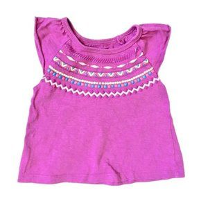 Pink and Purple Aztec Print Skort and Shirt Set